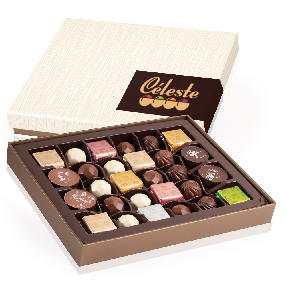 Premium Chocolate Gift Boxes : Personalized premium assorted belgian chocolates in gift
