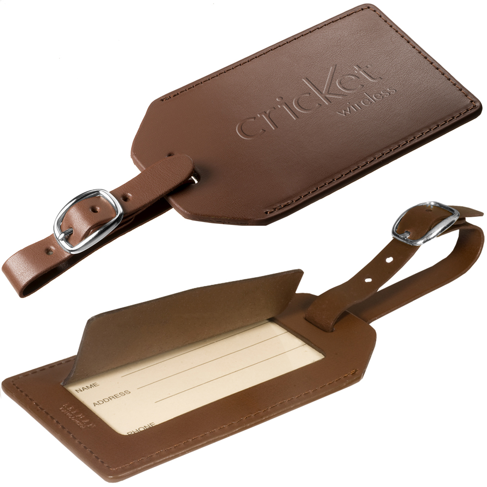 Personalized Primeline Leather Luggage Tags With Buckle