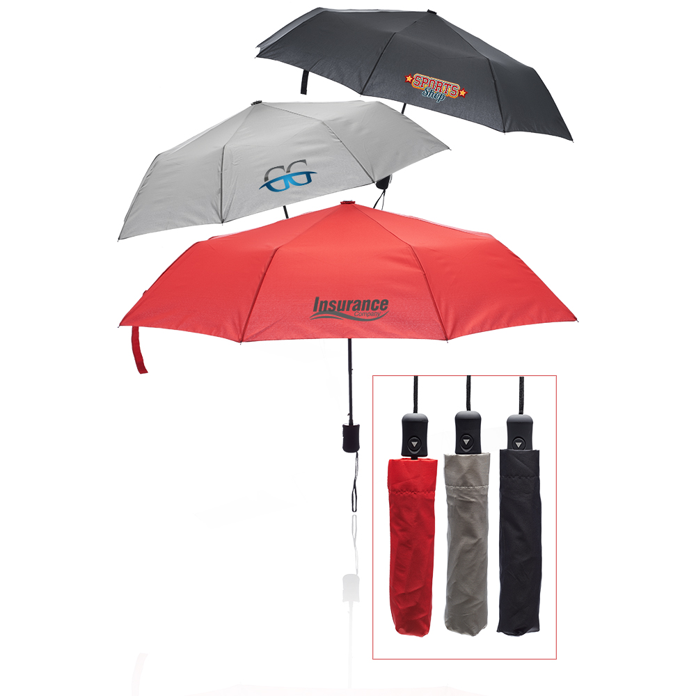 Custom 41-in. Folding Umbrellas   LE205001 - DiscountMugs