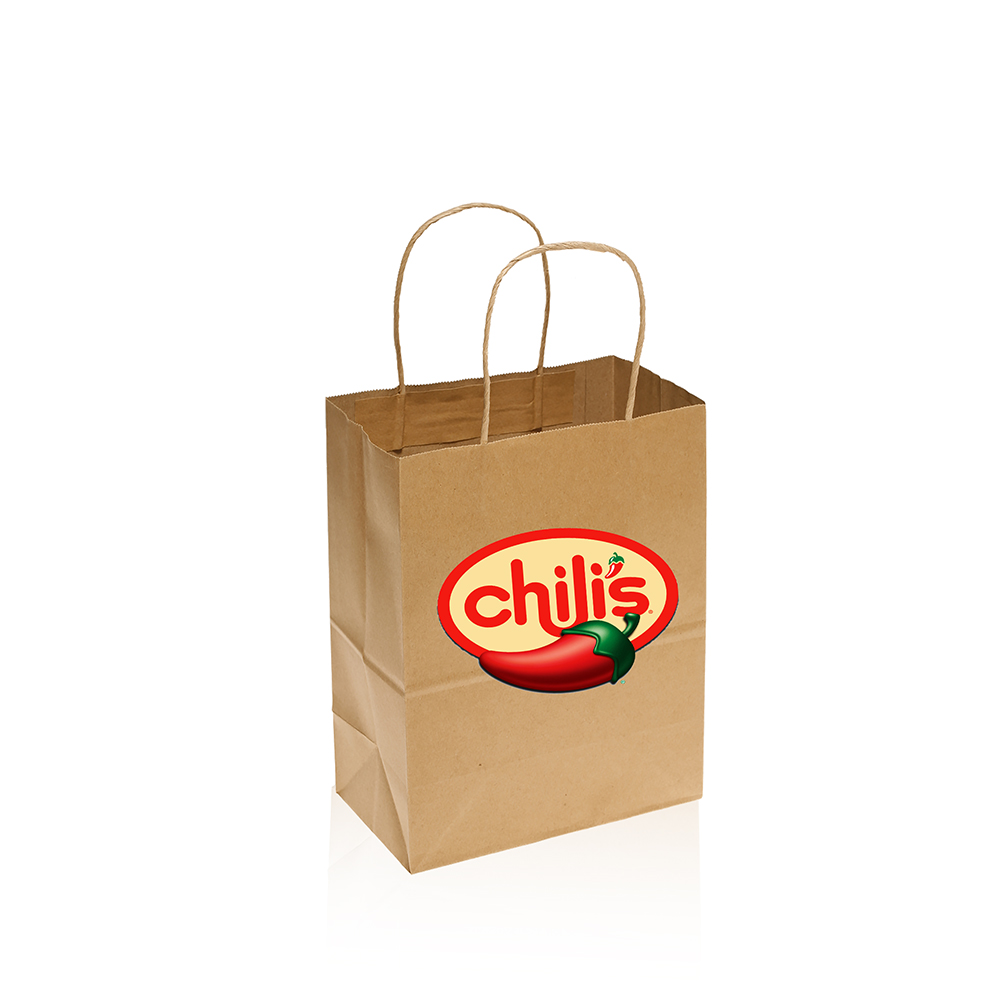 Small Brown Paper Bags Custom Printed With Your Logo