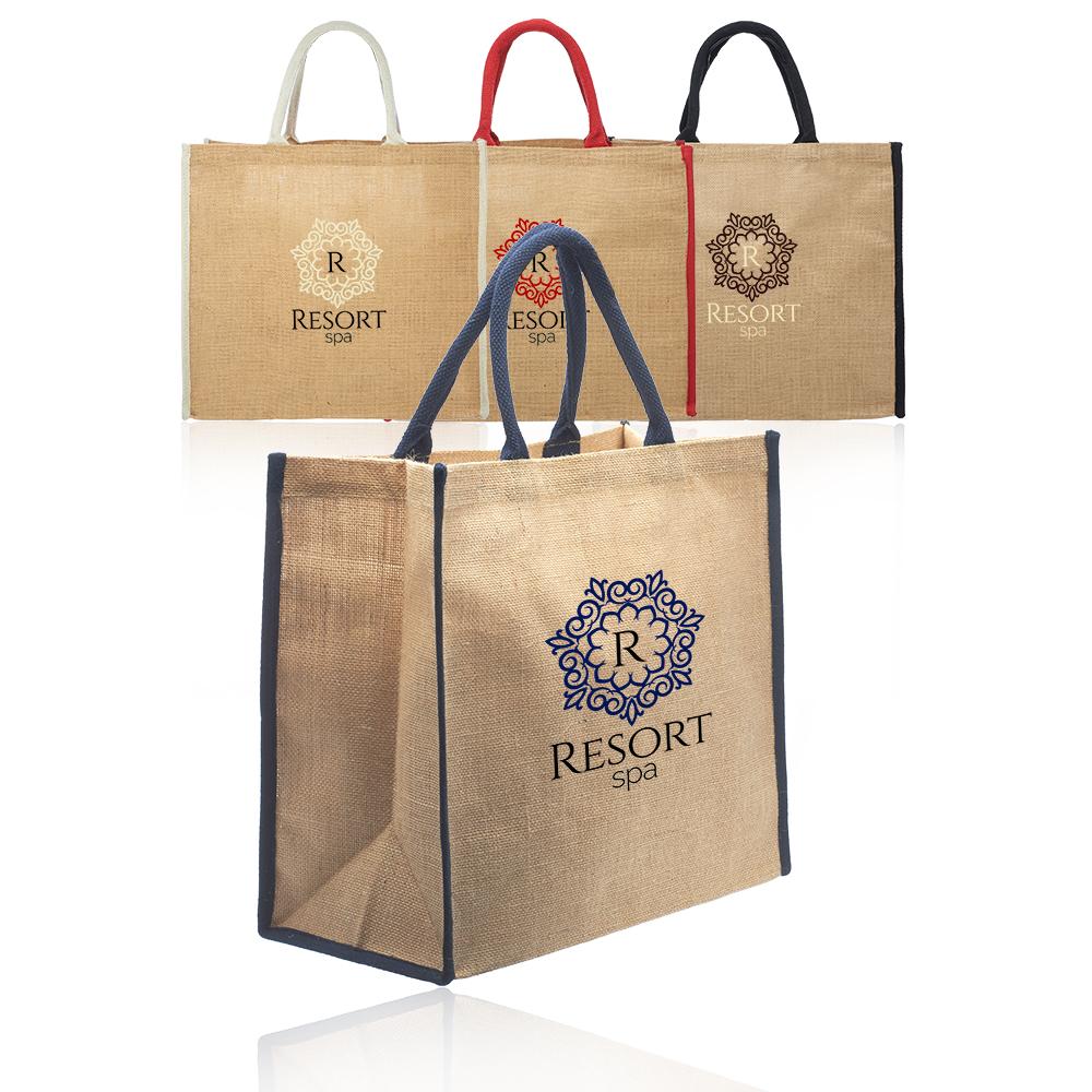 Personalized Fresno Eco Friendly Jute Tote Bags Tot240