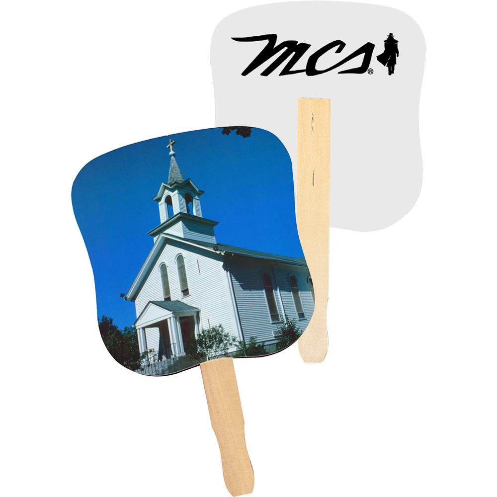 Personalized White Church Hand Fans Ak33052 Discountmugs