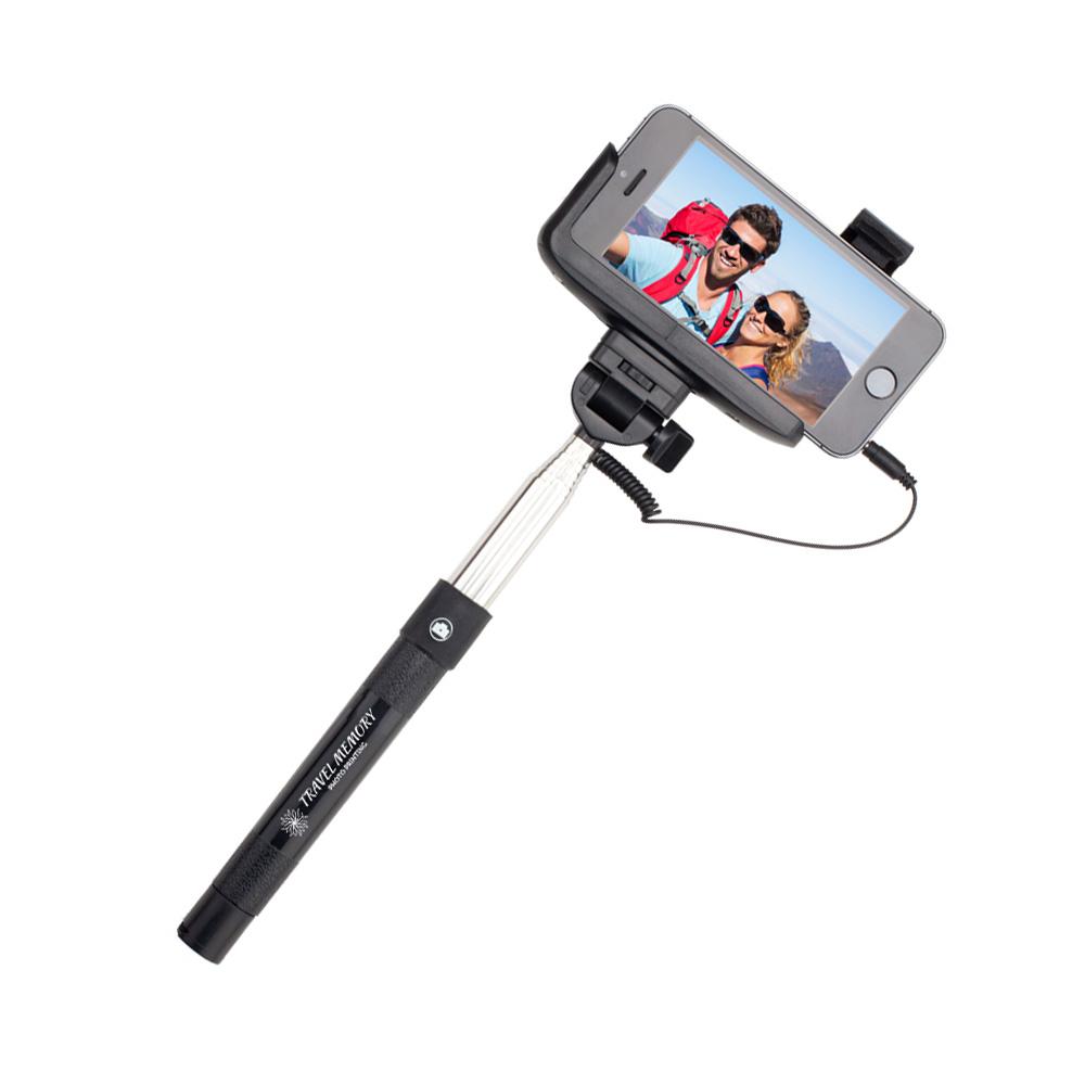 promotional selfie sticks with activation button x10228 discountmugs. Black Bedroom Furniture Sets. Home Design Ideas