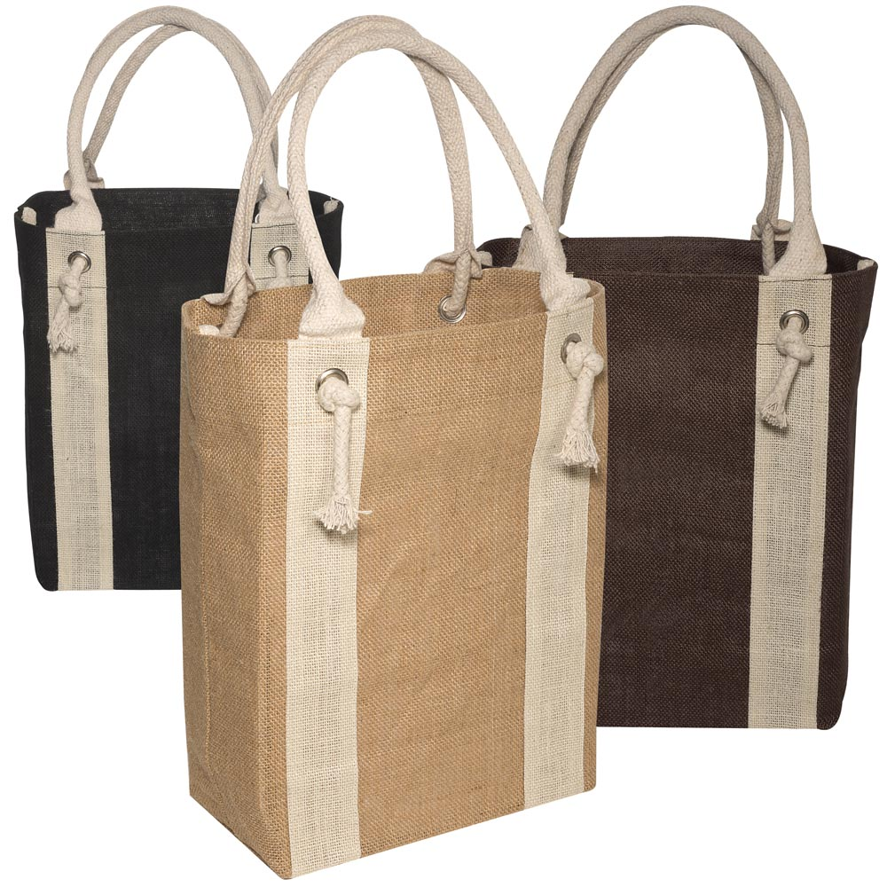 Personalized 14W X 14H Inch Yachters Jute Tote Bags