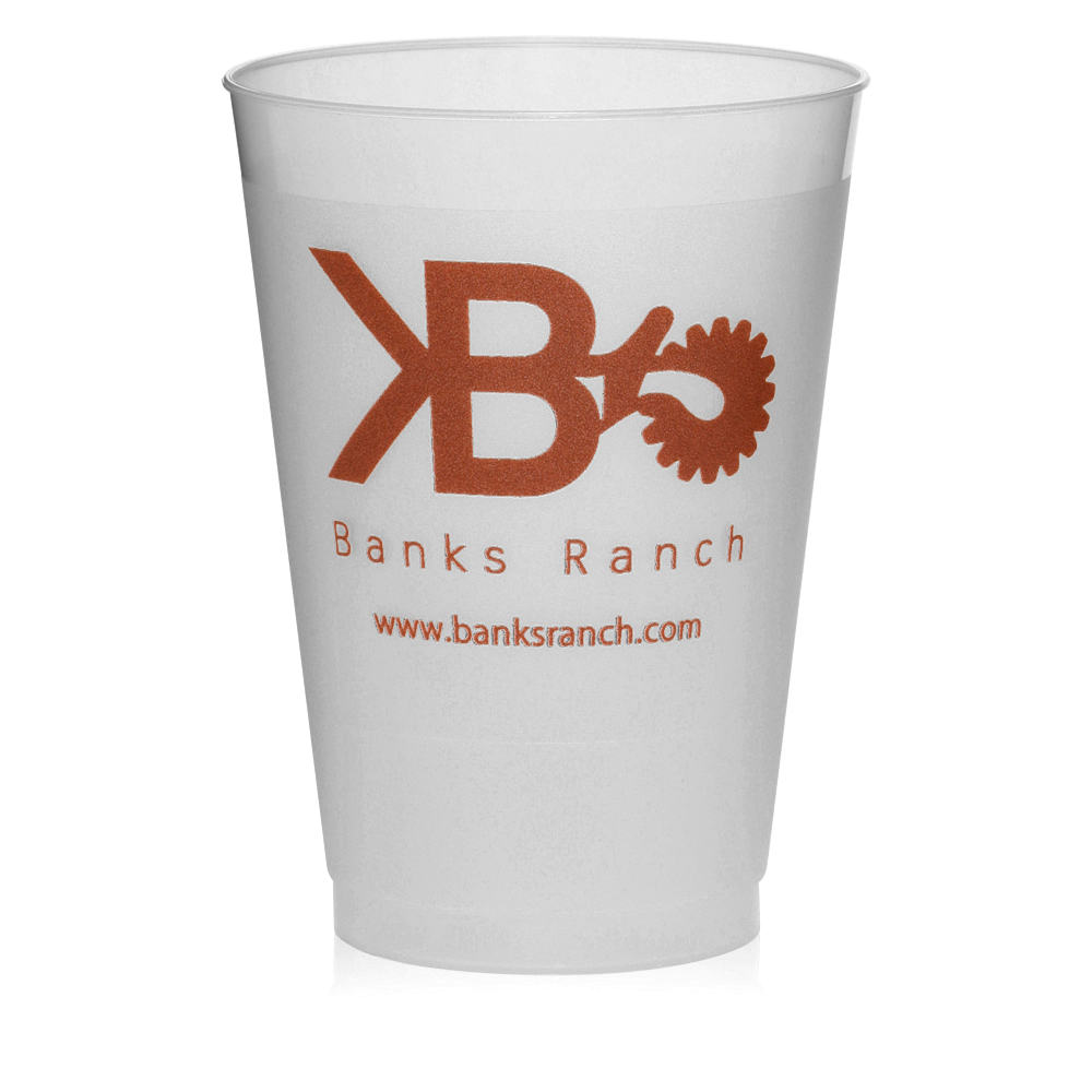 Custom 12 Oz. Frosted Plastic Party Cups