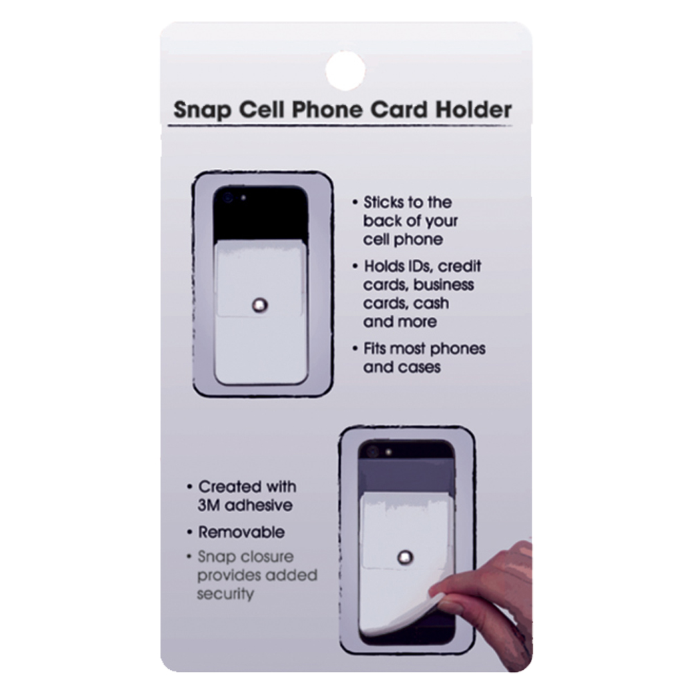 more photos 80eef f1265 Snap Close Cell Phone Card Holders | IL6211