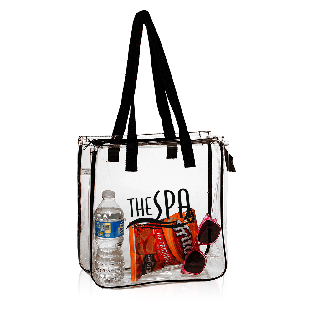 Personalized Zippered Canvas Tote Bags - Personalized clear tote bags