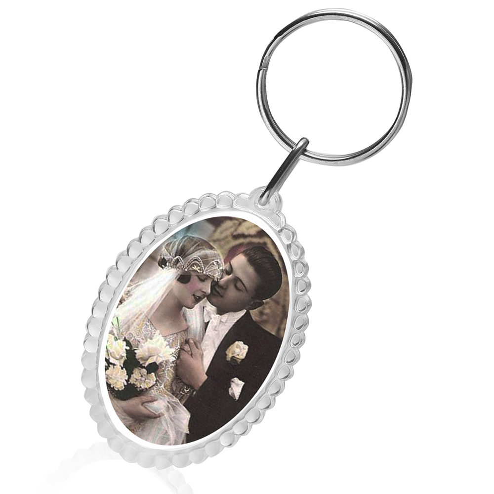 personalized round photo keychains