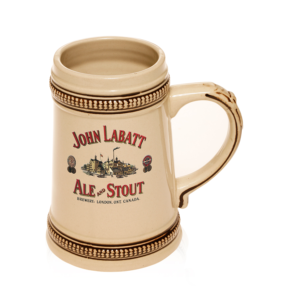 Bulk Personalized Ceramic Beer Steins Engraved or Printed With Logos