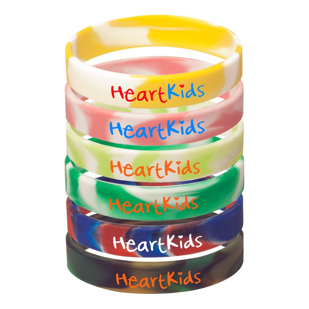 Kids Swirl Silicone Wristbands
