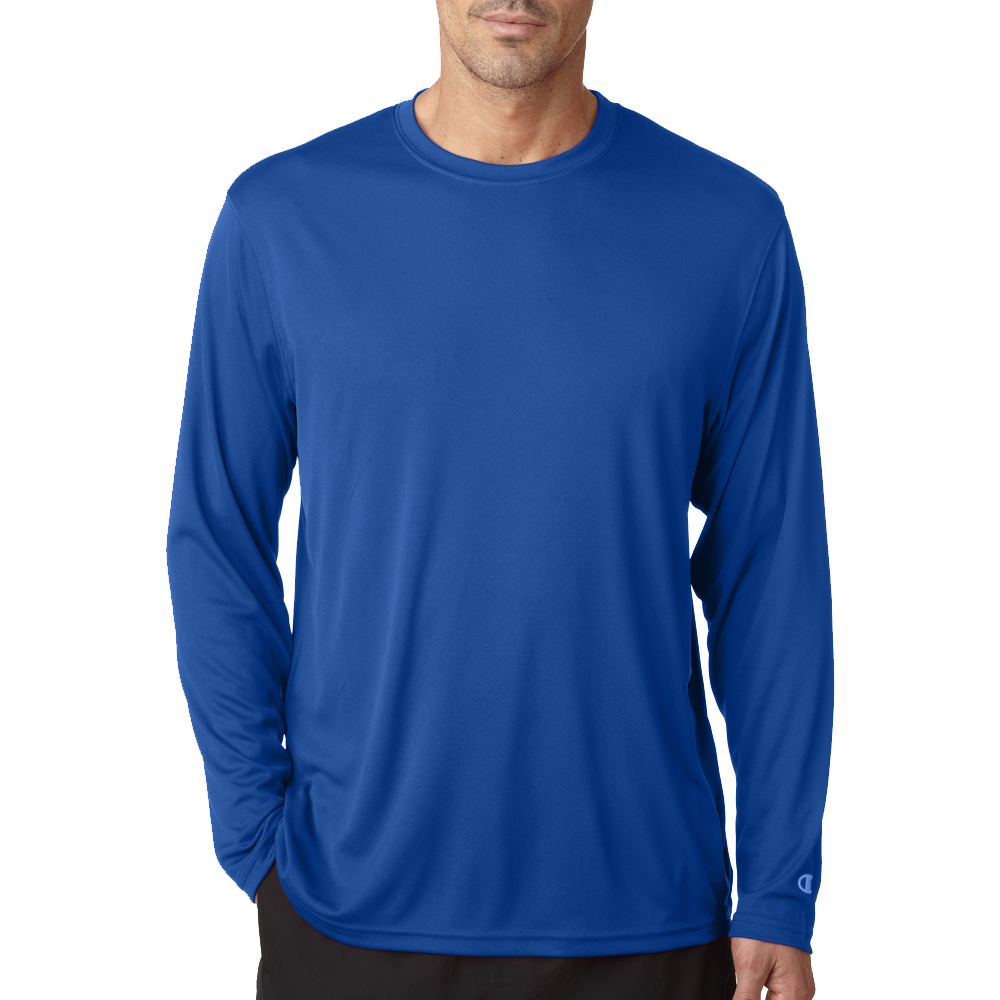 e753294bcfca Printed Champion Adult Double Dry Long-Sleeve Interlock T-Shirts ...