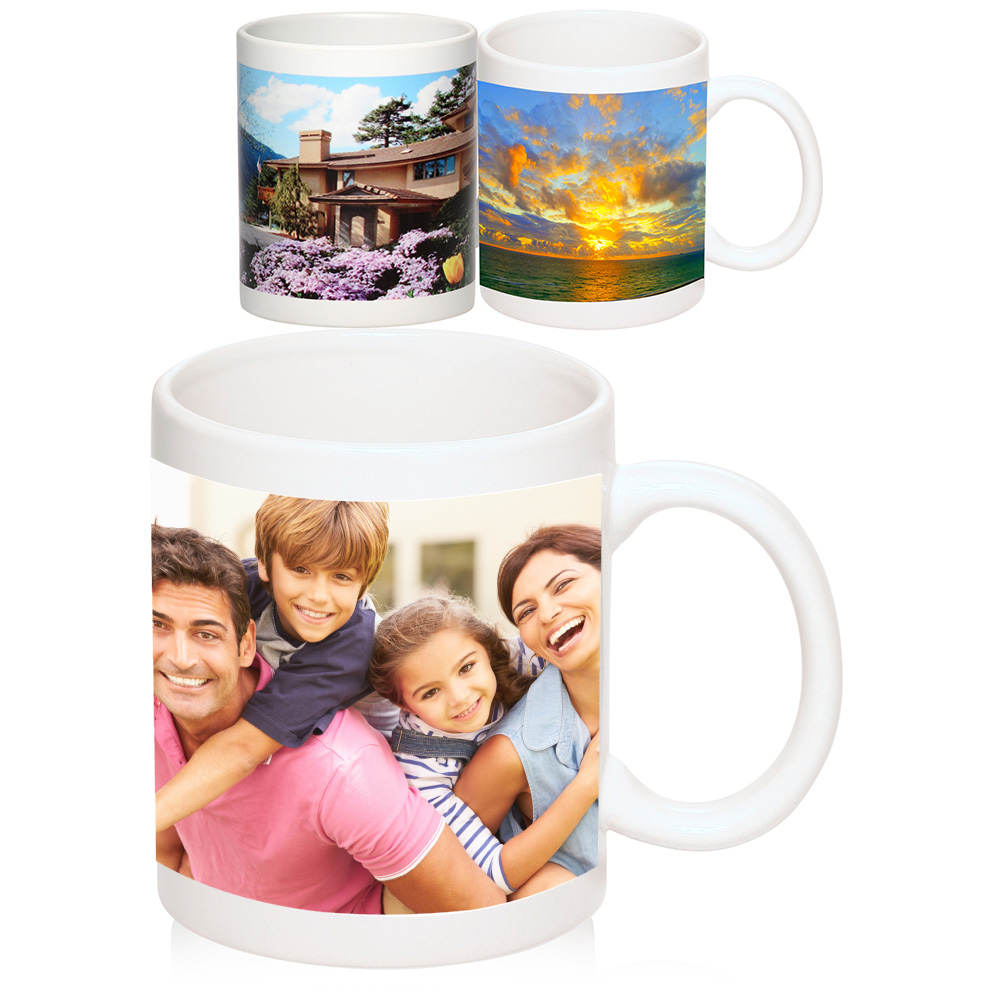 11 Oz Full Color Glossy Photo Mugs