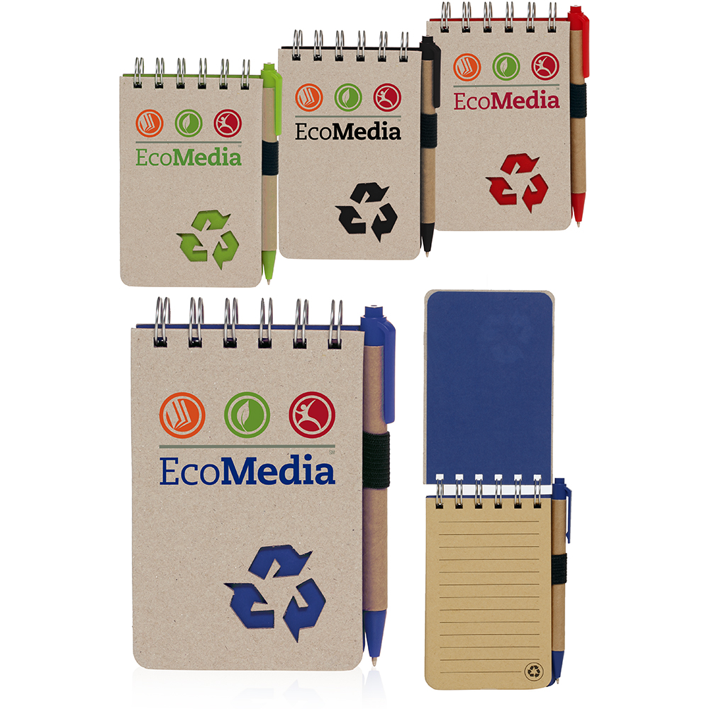 Personalized Recycled Jotters With Logo Design Custom