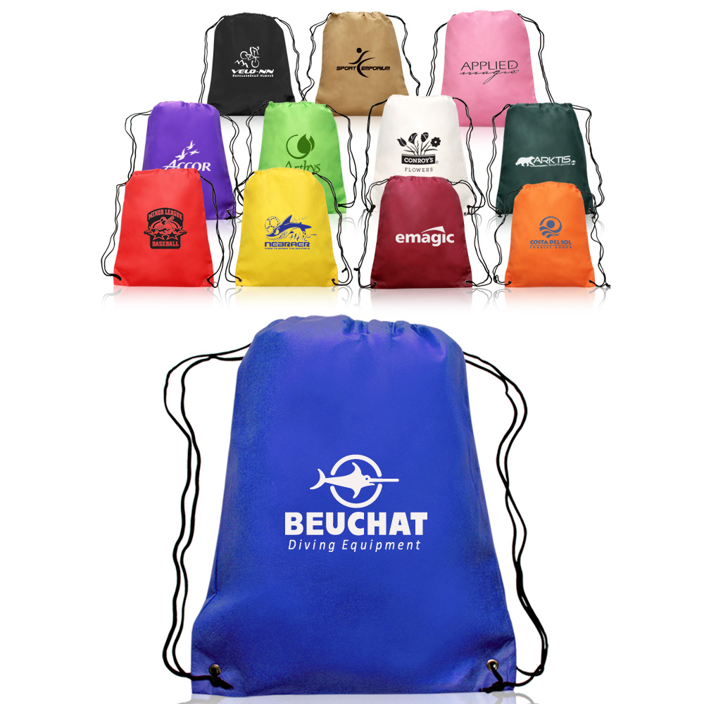 Custom Drawstring Bags - Lowest Prices & Free Shipping | DiscountMugs