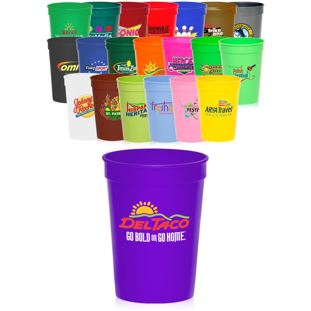 Custom 12 Oz Stadium Cups Sc12f Discountmugs