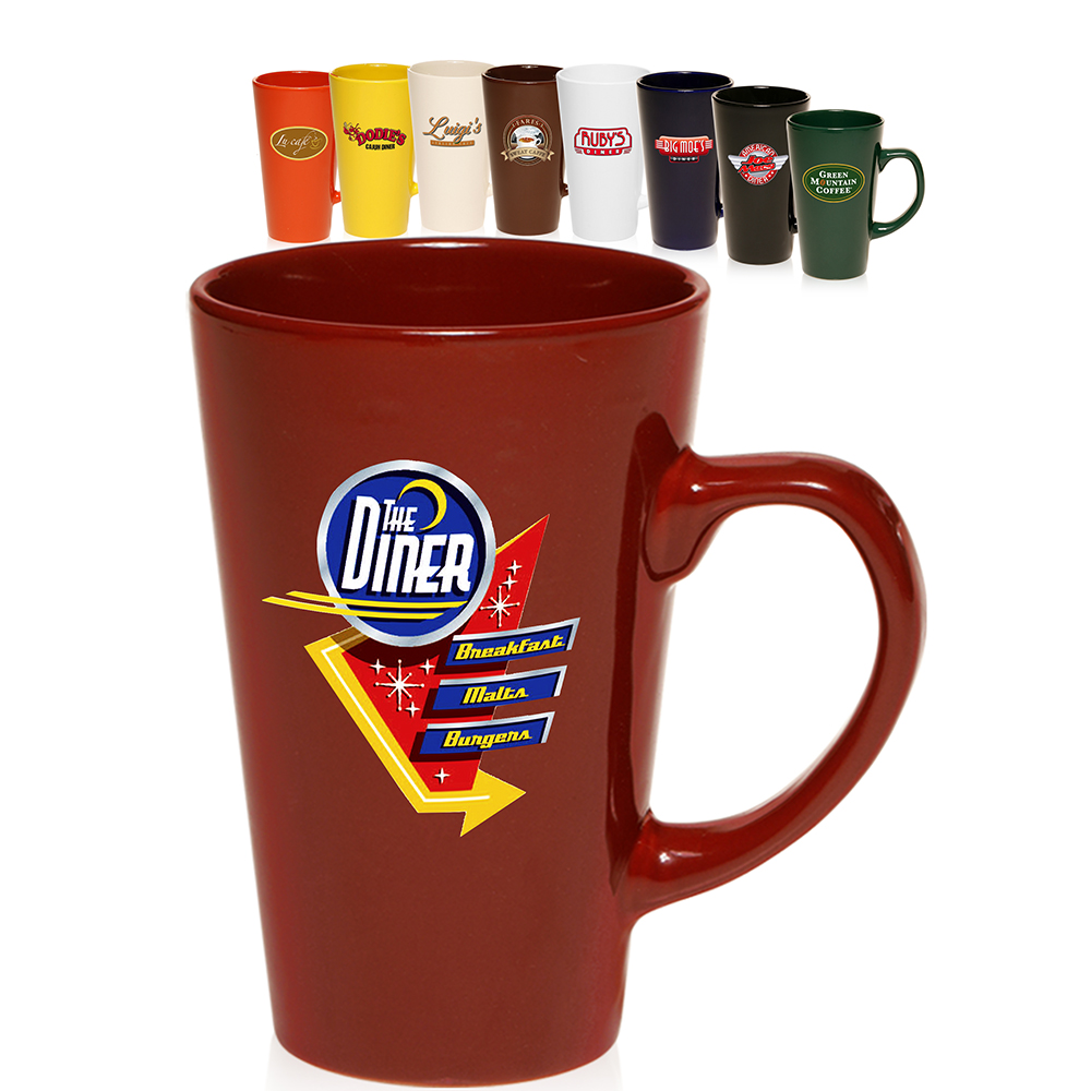 Personalized coffee mugs 16 oz tall caf style coffee mugs for Thermos caffe