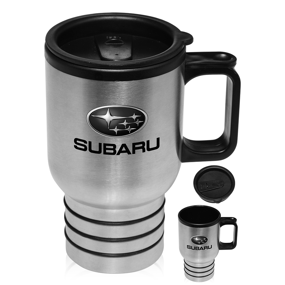 Printed stainless steel travel mugs with handle custom logos - Travel mug stainless steel interior ...