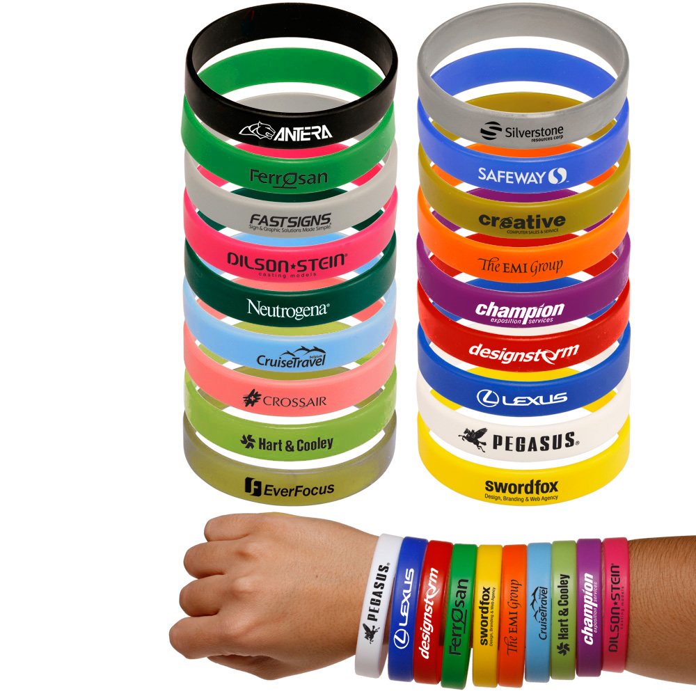custom solid silicone wristbands
