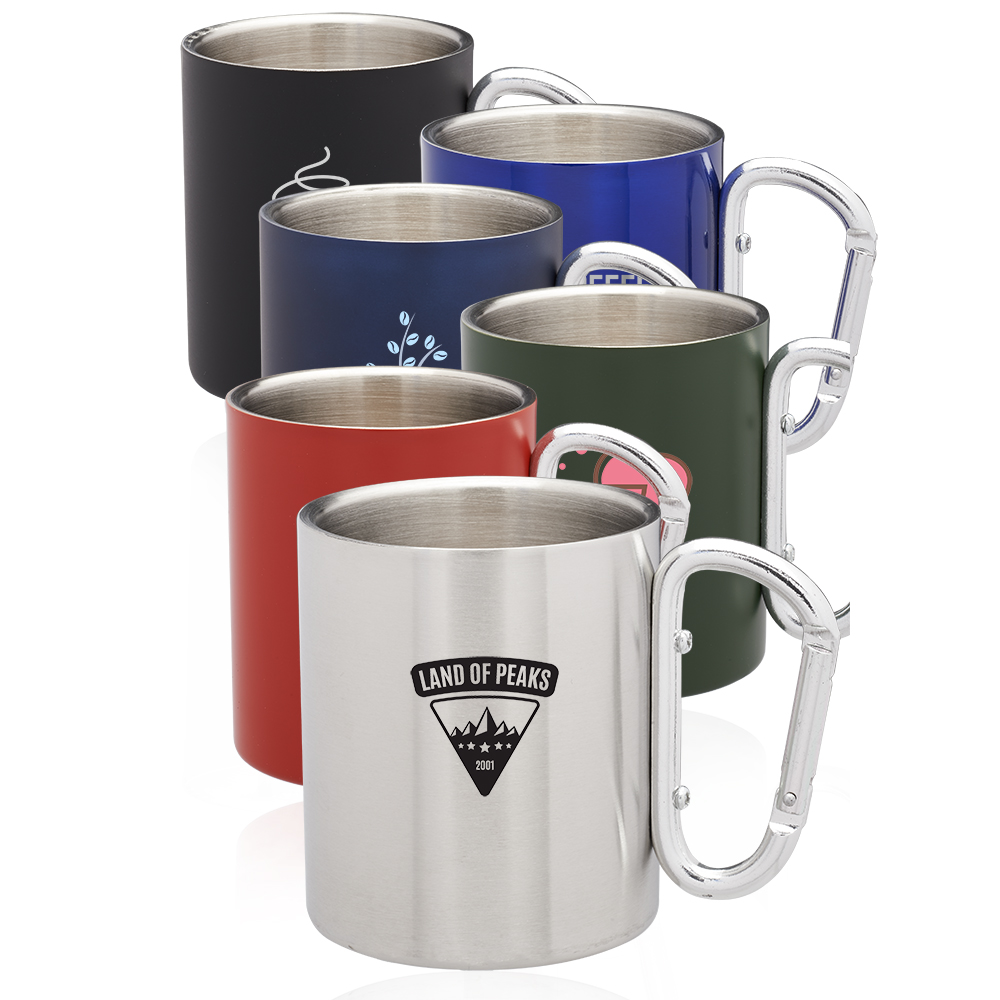 b21fa8d8d86 Personalized 10oz Carabiner Handle Stainless Steel Mugs | TM332 ...