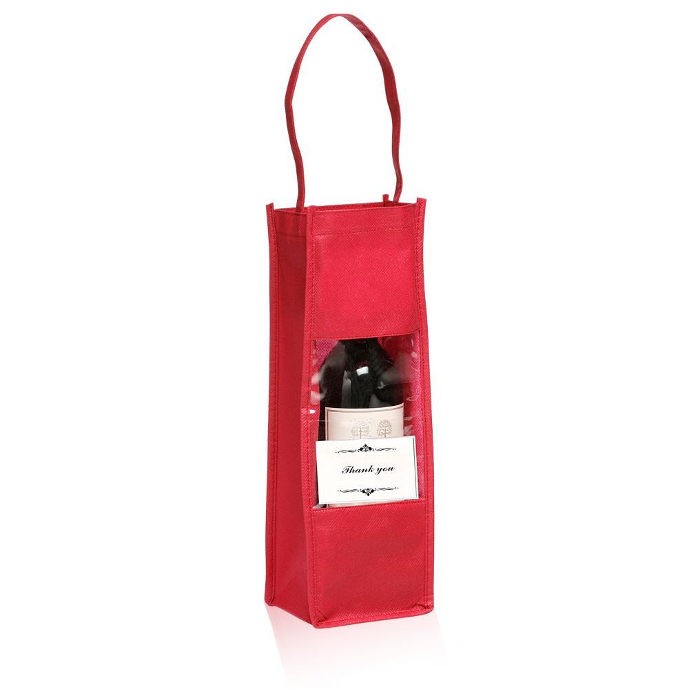 Personalized Non Woven Wine Bottle Gift Bags Tot100