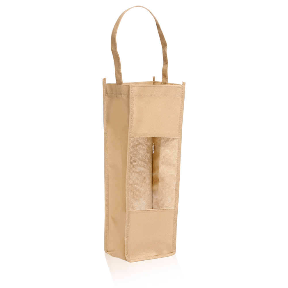 Personalized non woven wine bottle gift bags tot