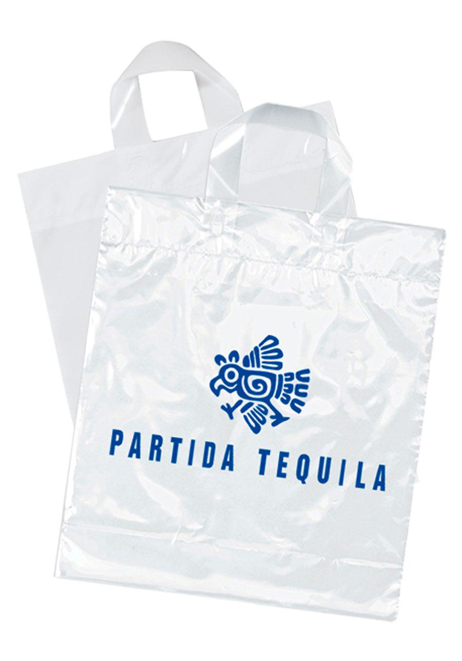 Custom Soft Loop Handle Plastic Bags | BM21S1315 - DiscountMugs
