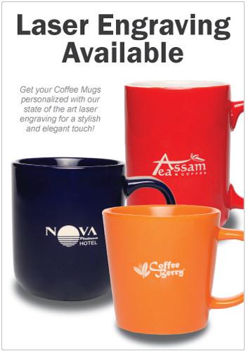 Custom 12 Oz Thick Grip Glossy Ceramic Diner Mugs 8000