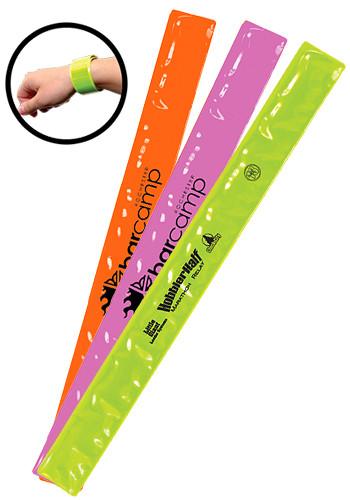 Reflective Safety Slap Bracelets Il1892