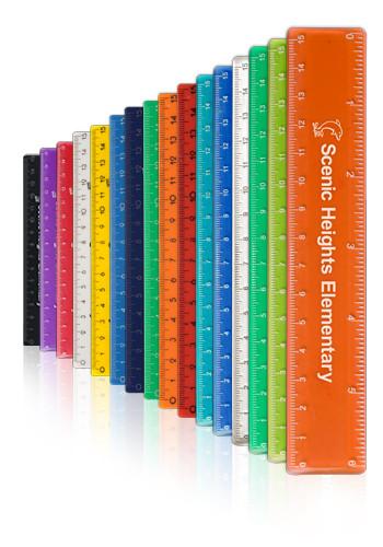 Bulk 6 In Color Plastic Rulers Em1431 Discountmugs