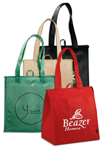 5477ac31ff Custom PolyPro Non-Woven Insulated Big Grocery Tote Bags