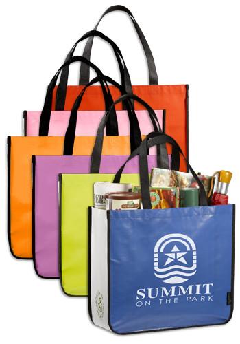 Custom Laminated Non Woven Large Shopper Tote Bags Le216005