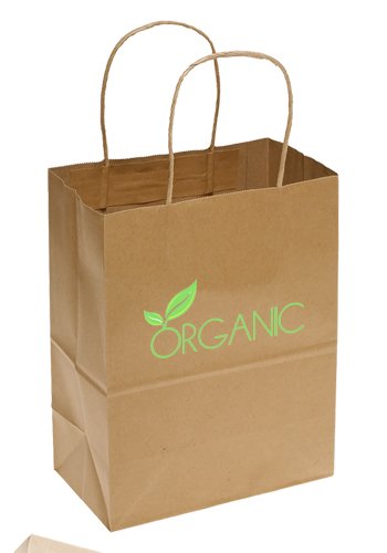 Custom Large Brown Paper Shopping Bags | TOT139 - DiscountMugs