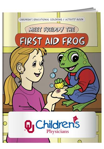 Custom Coloring Books: First Aid Frog   X11076 - DiscountMugs
