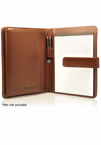 personalized tri- fold leather portfolios