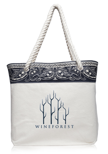 Paisley Pattern Canvas Tote Bags Atot3779