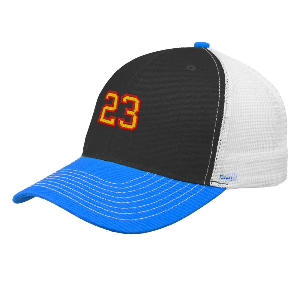 a359e11b Custom Cameron Snap Back Tri-Color Baseball Caps   CAP85 - DiscountMugs