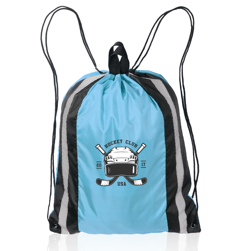 Printed Large Reflector Drawstring Backpacks  c116e3c655306
