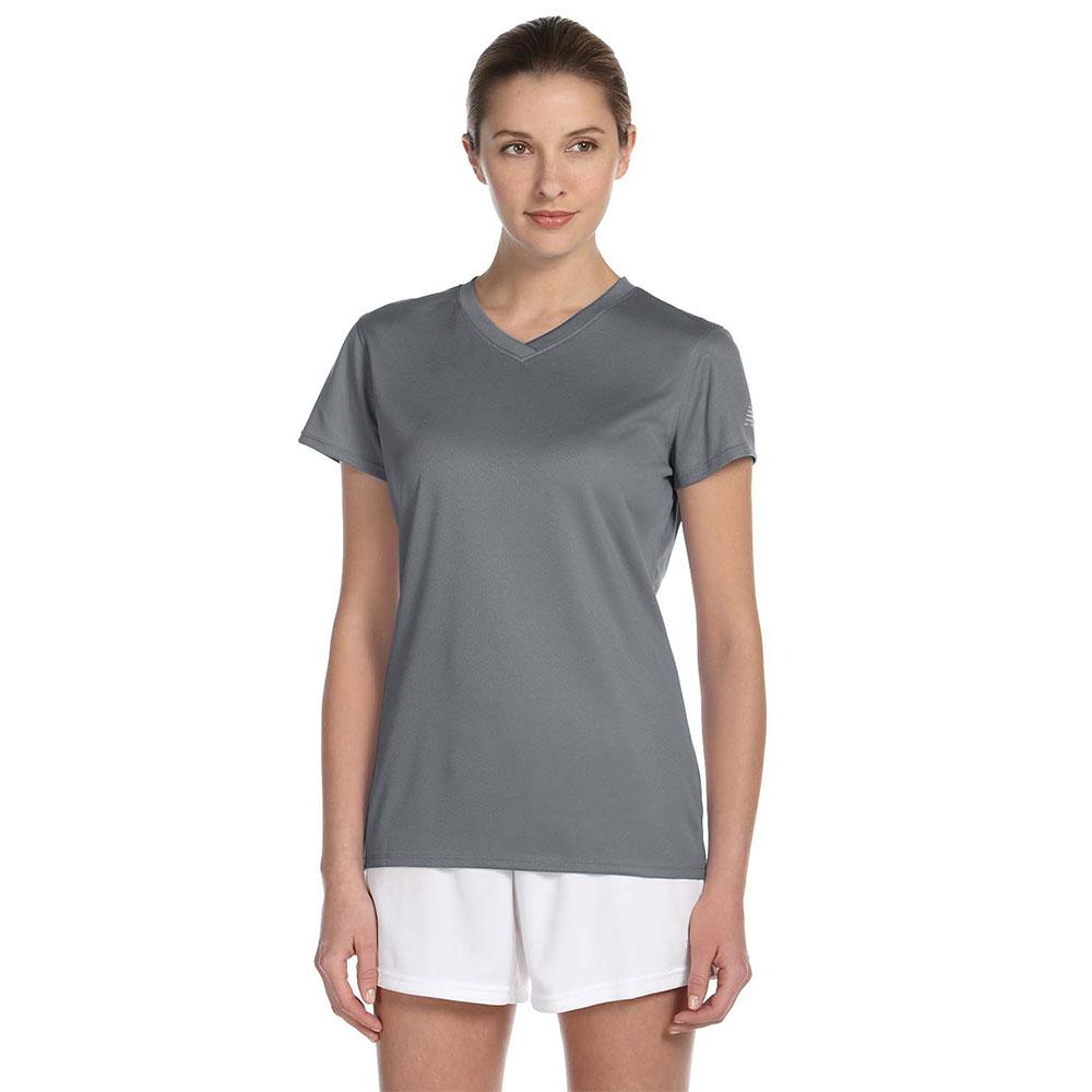 07be77506a205 Printed New Balance Ladies V-Neck T-Shirts   NB7118L - DiscountMugs