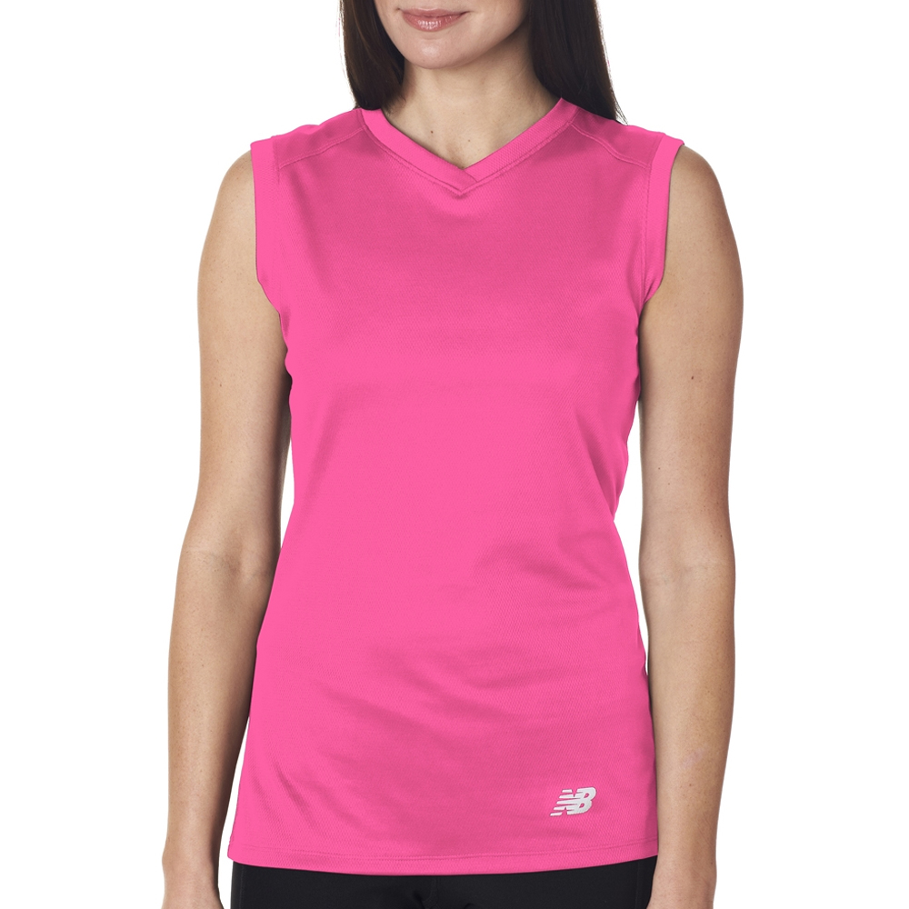 Printed New Balance Ladies V Neck Sleeveless T Shirts Nb7117l