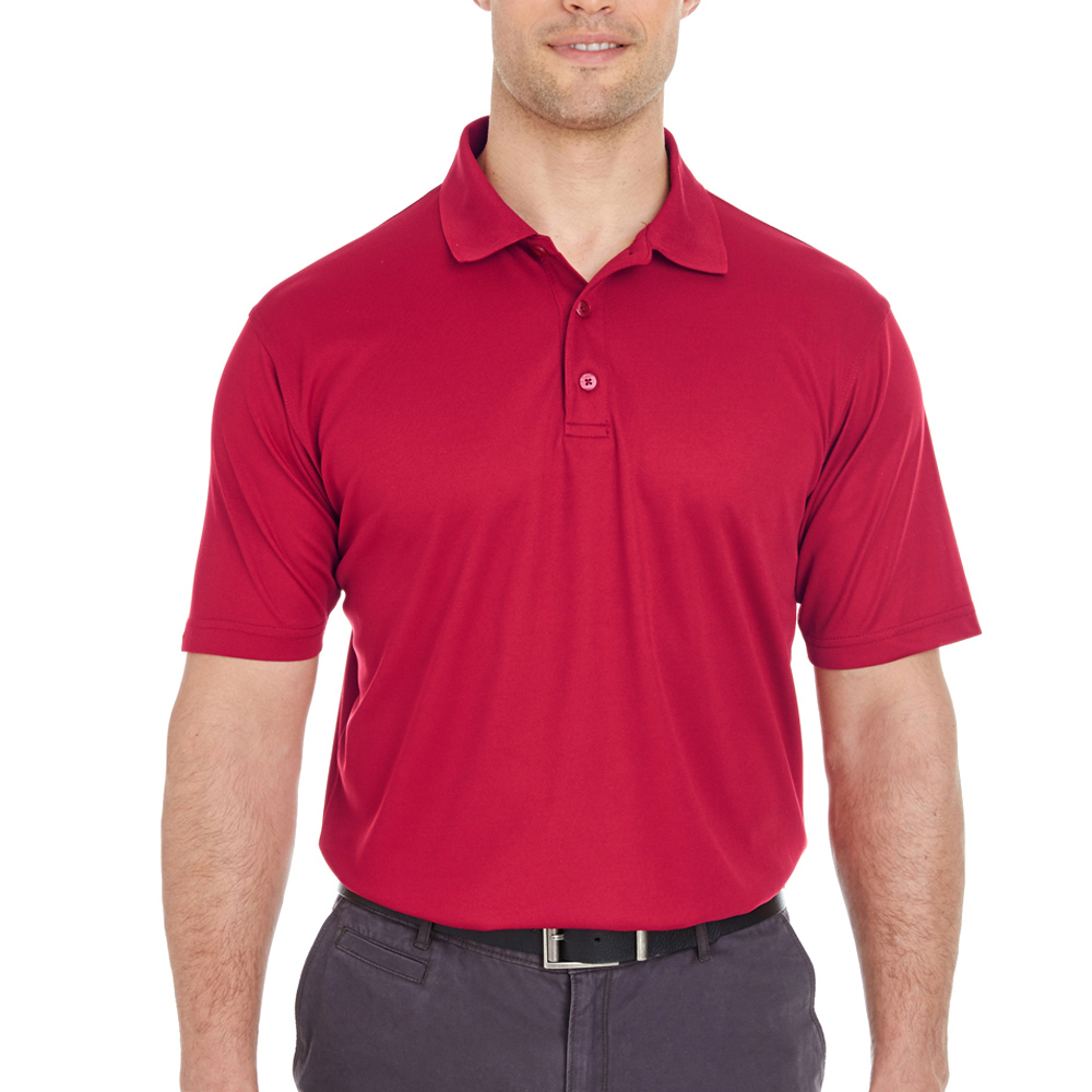 Embroidered Ultraclub Mens Cool Dry Polo Shirts 8210 Discountmugs