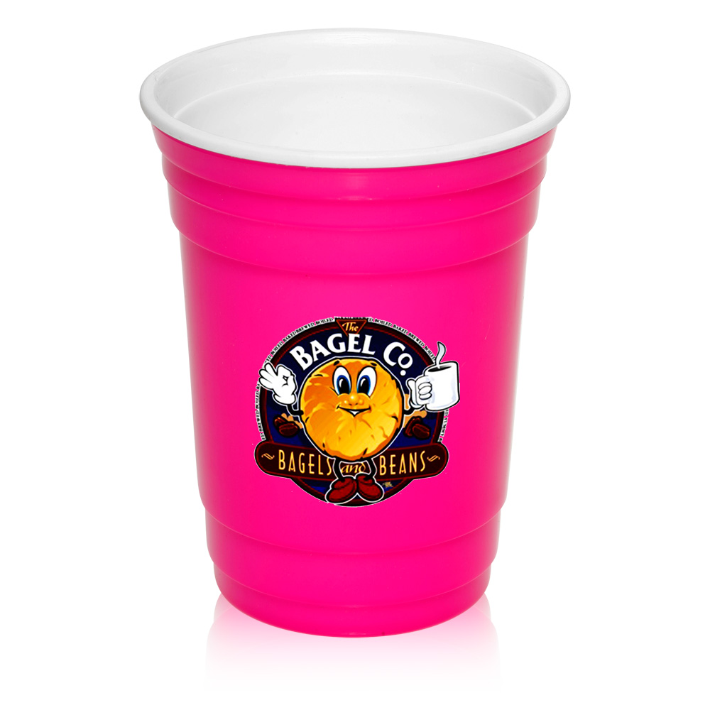 Custom 16 oz. Double Wall Plastic Party Cups   PG138 - DiscountMugs