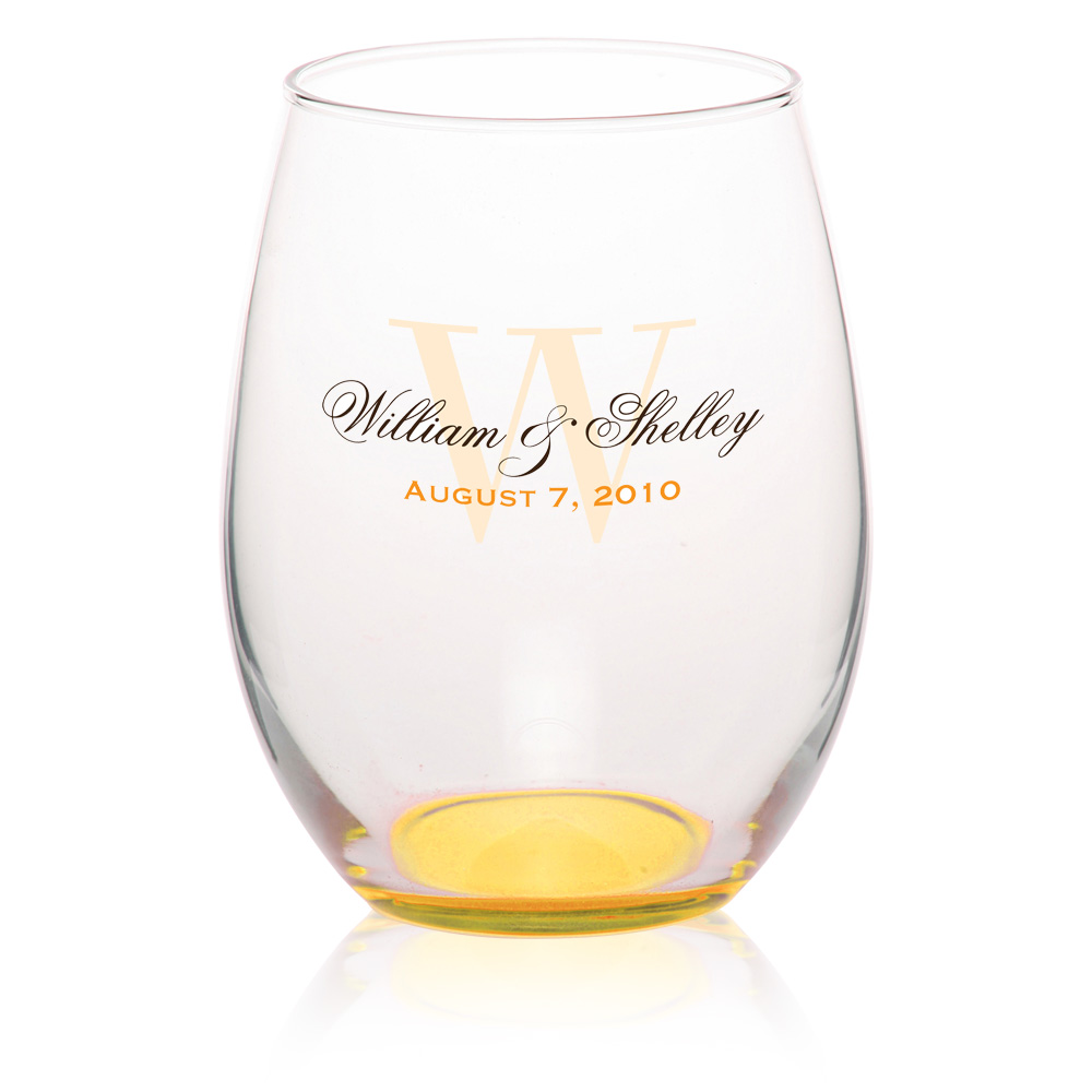 Custom 21oz Arc Personalized Stemless Wine Glasses From