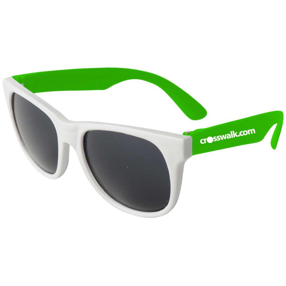 Custom Sunglasses Bulk  custom white framed neon sunglasses em900w mugs