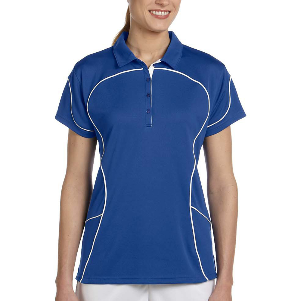 aff4c04e9 Personalized Russell Women's Contrast Piping Athletic Polo Shirts ...
