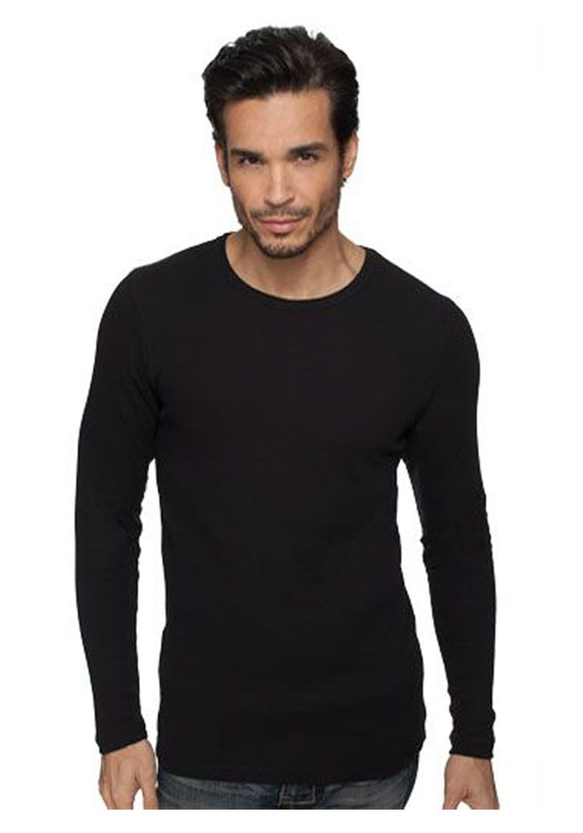 Promotional t shirts long sleeve long sleeved tee shirts for Mens black thermal t shirts