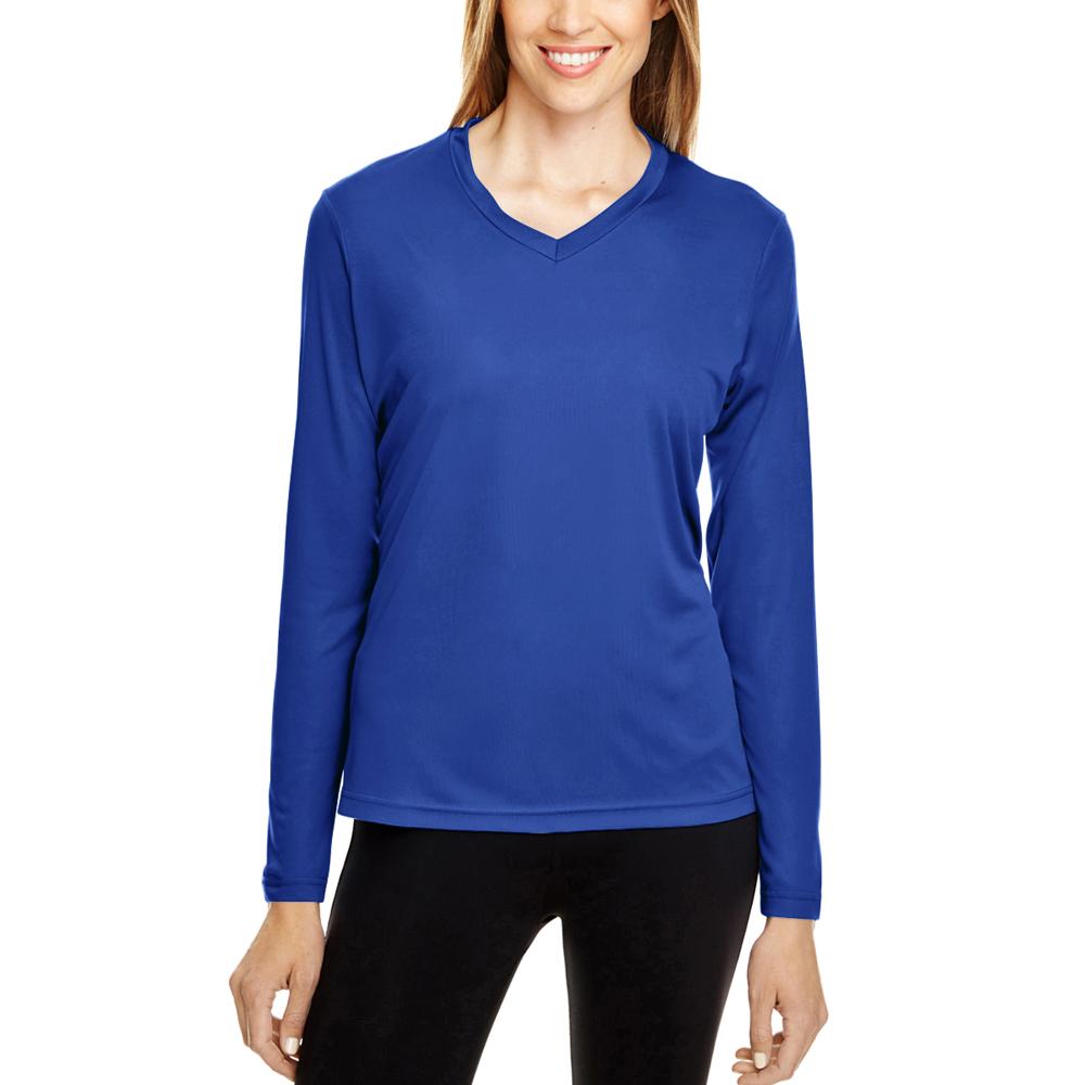 c34d4114a Printed Team 365 Ladies Zone Performance Long Sleeve Shirts |TT11L ...
