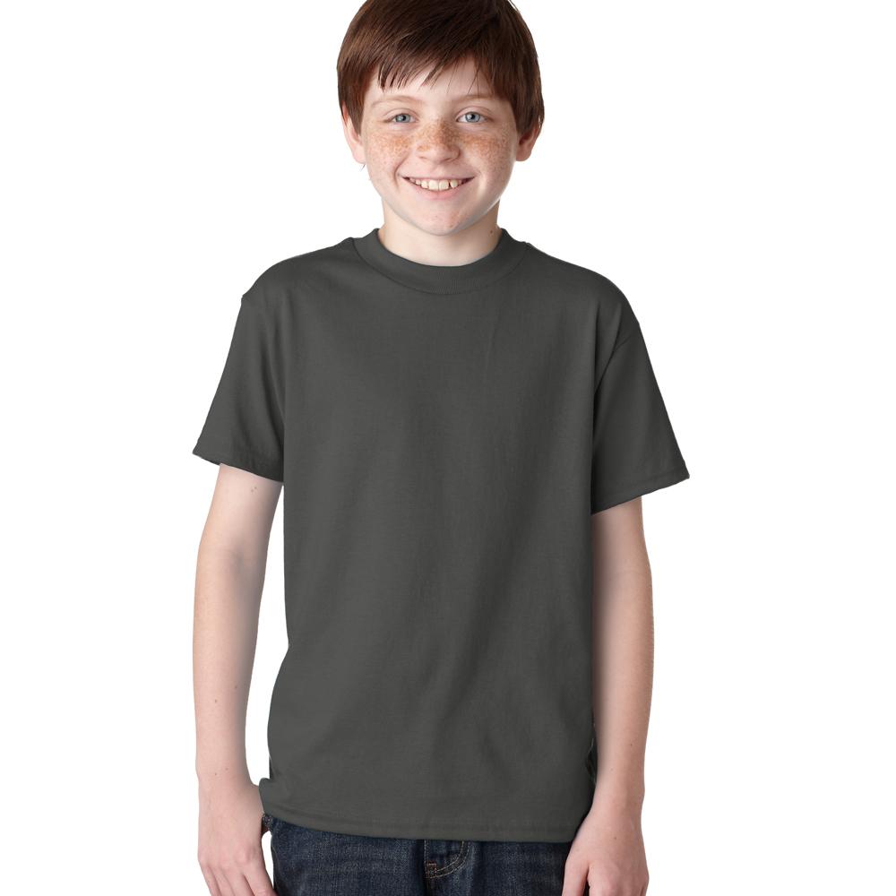 Youth black t shirt - Smoke Gray Teal