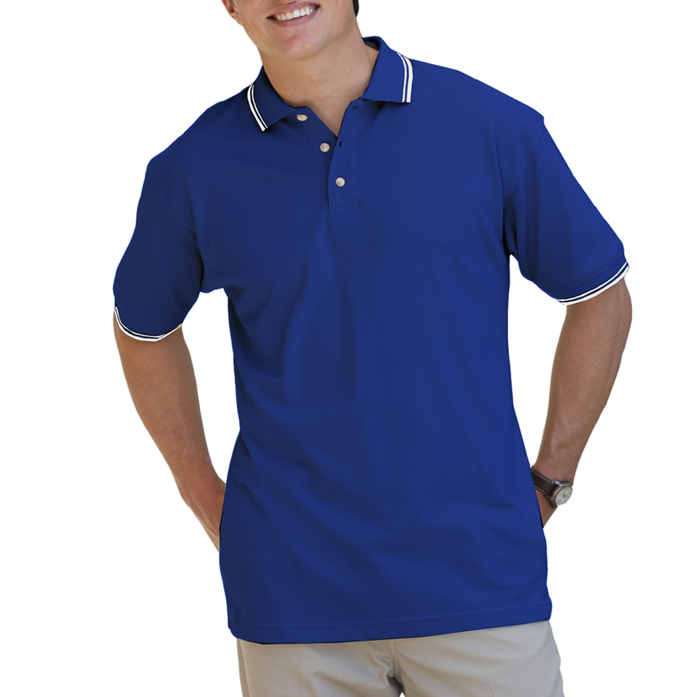 Embroidered Mens Tipped Collar Cuff Polo Shirts Bgen7205