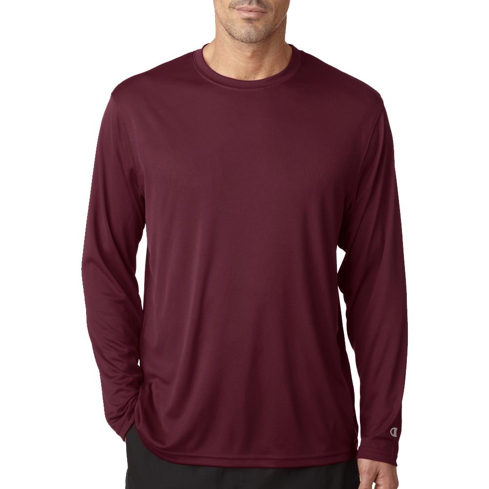 92d117721 Printed Champion Adult Double Dry Long-Sleeve Interlock T-Shirts | CW26 -  DiscountMugs