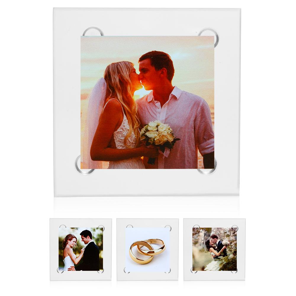 Square Custom Glass Coasters Wholesale | Design Photo Glass Coasters ...